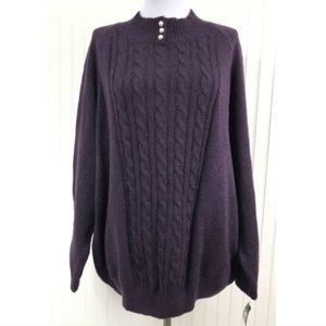 Karen Scott NWT 3X Mock Turtleneck Sweater Purple